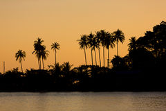 Sunset on the shore of  tropical Koh Chang Island. Thailand. Stock Photo