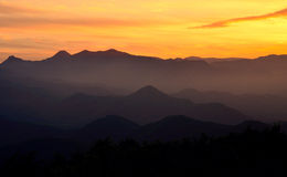 Sunset. Shot from Mt. Moiwa, Sapporo, Japan Royalty Free Stock Photo