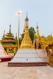 Sunset at Shwedagon Pagoda Stock Image