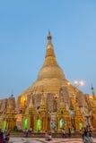 Sunset at Shwedagon Pagoda Royalty Free Stock Images