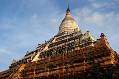 Sunset on the Shwesandaw temple in old Bagan, Myanmar. Stock Photo