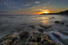 Sunset. At Sichang island,Thailand Stock Photography