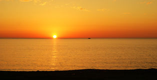 Sunset in sicily Stock Images