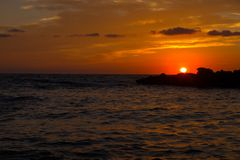 Sunset on Sicily. Sunset seen in Cornino, Trapani, Sicily, Italy royalty free stock images