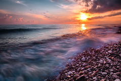 Sunset in Sicily Stock Photography