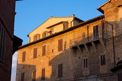 Sunset in Siena Royalty Free Stock Photography