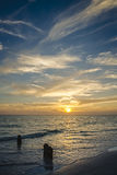 Sunset on Siesta Key Royalty Free Stock Images