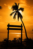 Sunset Silhouette. At Redang Beach Royalty Free Stock Image