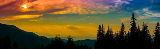 Free Sunset Silhouette Royalty Free Stock Photography - 64015637