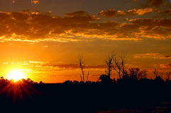 Sunset Silhouette Royalty Free Stock Photography