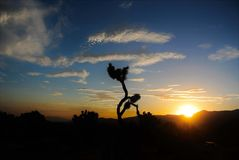 Joshua Tree National Park, Sunset stock photos
