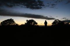 Sunset silhouette Royalty Free Stock Photos