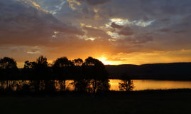Sunset silhouette in Penrith Stock Photos