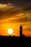 Sunset silhouette photography skyline Royalty Free Stock Image