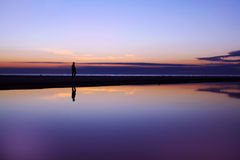 Sunset Silhouette Reflection Royalty Free Stock Image