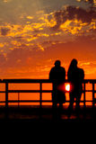 Sunset Silhouette Royalty Free Stock Images