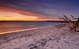 Sunset at Silver Beach Botany Bay Sydney Stock Images