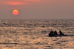 Sunset at Similan Island Royalty Free Stock Photography