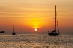 Sunset at similan Islands Stock Photography