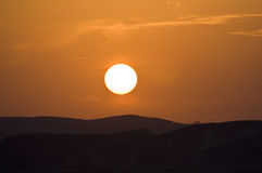 Sunset at Sinai. Sunset at mount Sinai, Egypt Stock Photos