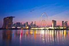 Sunset in Singapore Royalty Free Stock Image