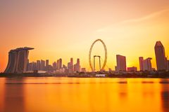 Sunset in Singapore Stock Photos