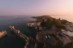 Sunset in Sirmione Royalty Free Stock Image
