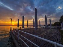 Sunset on Lake Garda stock photos
