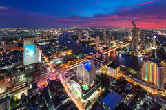 Sunset at Sirocco, Bangkok, Thailand Royalty Free Stock Images
