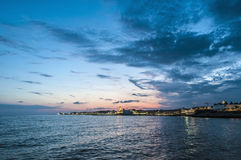Sunset at Sitges, Spain Royalty Free Stock Image
