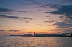 Sunset at Sitges, Spain Royalty Free Stock Photos