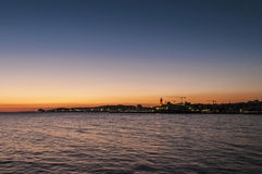 Sunset at Sitges, Spain Royalty Free Stock Images