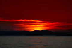 Sunset in Sithonia, Chalkidiki, Greece Royalty Free Stock Photos