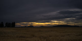 Sunset on the Skagit Valley Stock Images