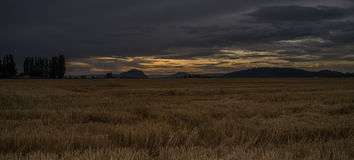 Sunset on the Skagit Valley Royalty Free Stock Photo