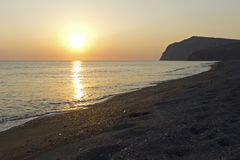 Sunset at Skala Eressos Stock Image