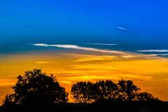Sunset skies Royalty Free Stock Photography