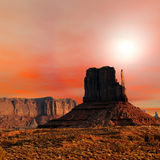 Sunset Skies Monument Valley Royalty Free Stock Image