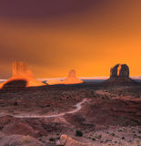 Sunset Skies Monument Valley Arizona Stock Photos