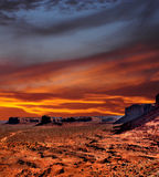 Sunset Skies Monument Valley Stock Images