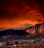 Sunset Skies Monument Valley Royalty Free Stock Photography