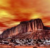 Sunset Skies Monument Valley Royalty Free Stock Images