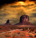 Sunset Skies Monument Valley Stock Image