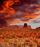 Sunset Skies Monument Valley Stock Photo