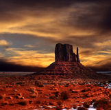 Sunset Skies Monument Valley Royalty Free Stock Photos