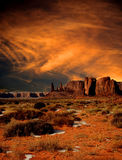 Sunset Skies Monument Valley Stock Photography