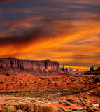 Sunset Skies Monument Valley Royalty Free Stock Photo