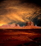 Sunset Skies Monument Valley Stock Photos