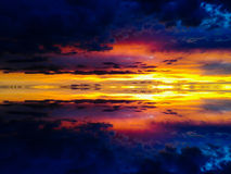 Sunset skies. Nature s reflexion stock illustration