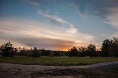 Sunset. In Skulte, Latvia, autumn 2016 Royalty Free Stock Photos